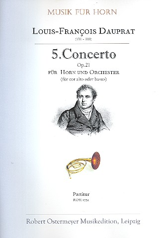 Concerto no.5 opus.21: für Horn in E (Alt oder Bass) und Orchester
