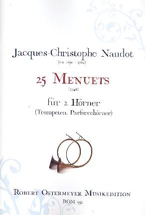 Naudot, Jacques Christophe - 25 Menuets :