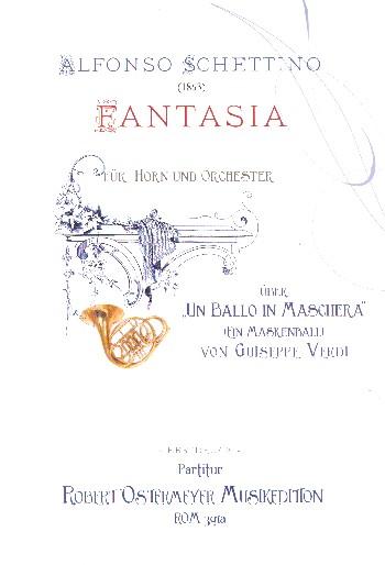 Fantasia über Un ballo in maschera: für Horn und Orchester