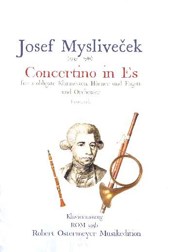Concertino Es-Dur für 2 Klarinetten, 2 Hörner, Fagott und Orchester : - Vollanzeige.