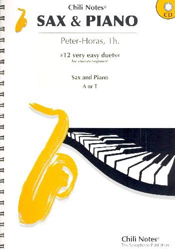 12 very easy Duets (+CD): für Altsaxophon (Tenorsaxophon) und Klavier