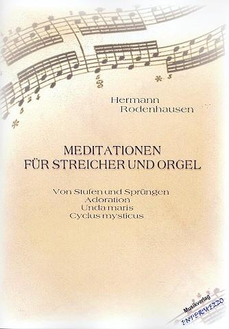 4 Meditationen: für Streicher und Orgel Partitur und Stimmen (Streicher 1-1-1--1)