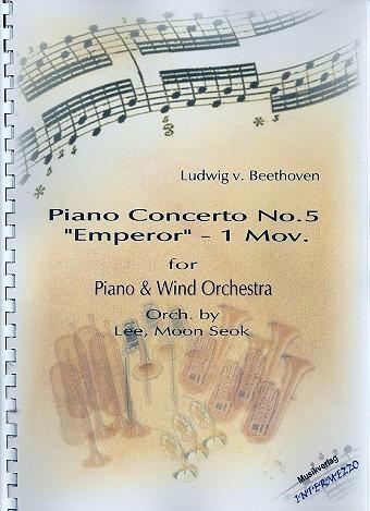 1. Satz aus Konzert Es-Dur Nr.5 opus.73 für Klavier und Orchester: für Klavier und Blasorchester