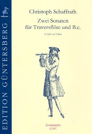 2 Sonaten: für Traversflöte und Bc