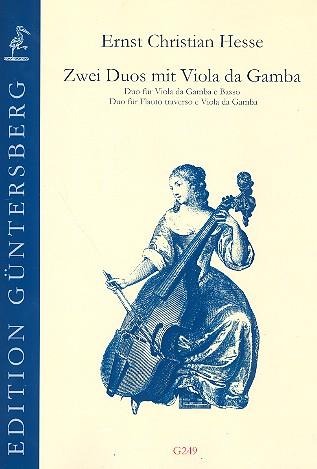 2 Duos mit Viola da gamba 2 Spielpartituren