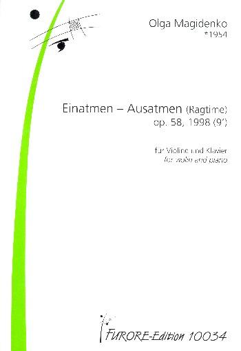 Einatmen - Ausatmen opus.58: für Violine und Klavier