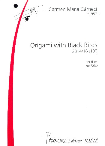 Origami with black Birds : - Vollanzeige.