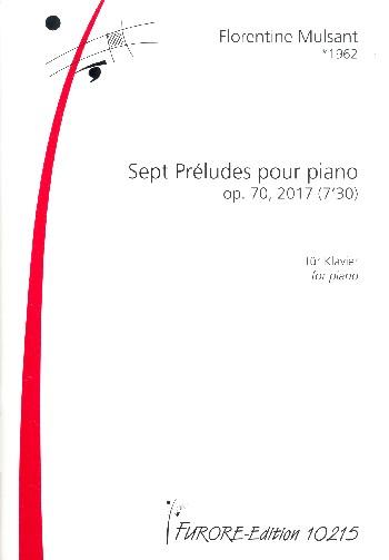 7 Préludes opus.70: für Klavier