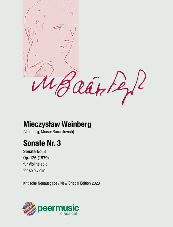 Weinberg, Mieczyslaw - Sonate Nr.3 op.126 :