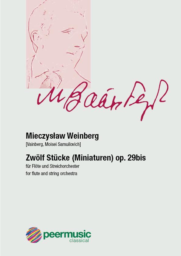 12 Stücke op.29bis: für Flöte und Streichorchester