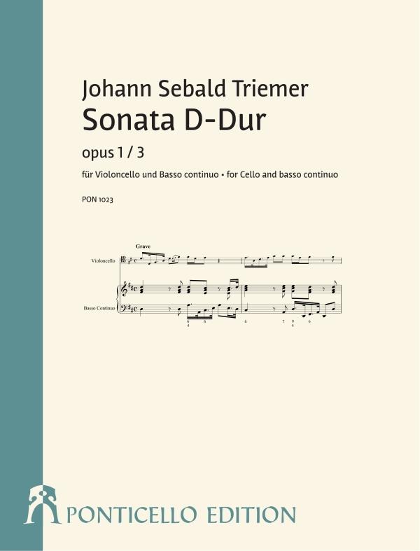 Triemer, Johann Sebald (Jean Zewalt) - Sonate D-Dur op.1,3 :
