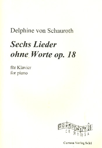 6 Lieder ohne Worte opus.18: für Klavier