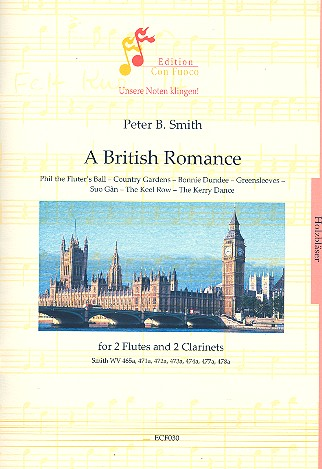 A British Romance: for 2 flutes and 2 clarinets score and parts