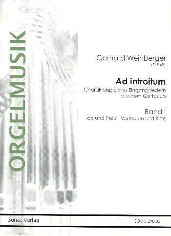 Ad introitum Band 1 - Lob und Preis, Vertrauen und Bitte : - Vollanzeige.