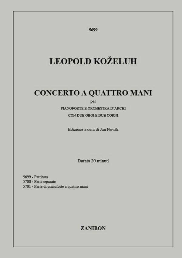 Concerto a 4 mani: per pianoforte, orchestra a\