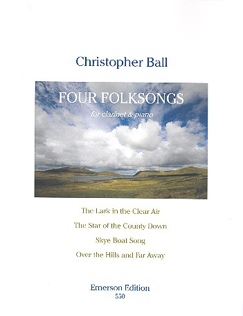 4 Folksongs: for clarinet and piano