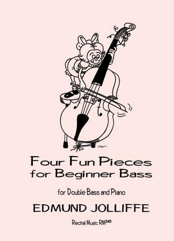 4 Fun Pieces for Beginner Bass: for double bass and piano