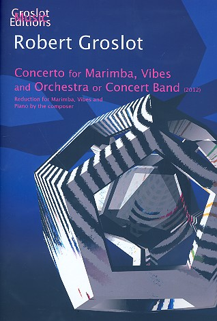Concerto for Marimba, Vibes (1 player) and orchestra (Concert Band) (+CD): for marimba,