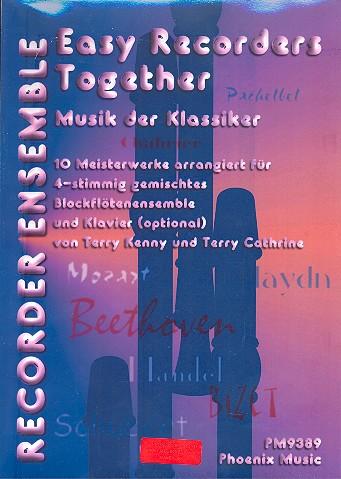 Musik der Klassiker: 10 Meisterwerke für 4 Blockflöten ( Ensemble )