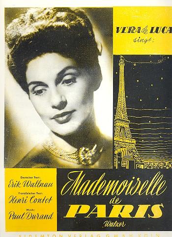Mademoiselle de Paris: Einzelausgabe Gesang und Klavier