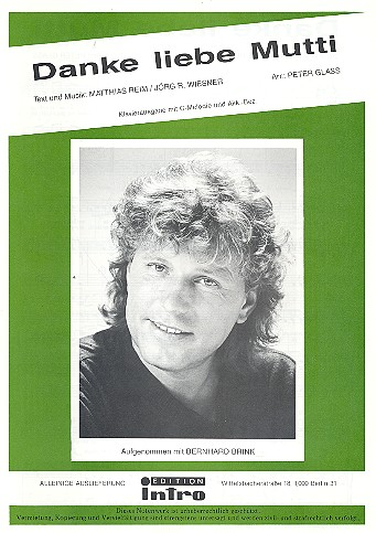 Danke liebe Mutti: Einzelausgabe Gesang und Klavier