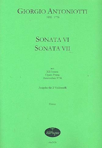 2 Sonaten opus.1: für 2 Violoncelli Partitur und Stimmen