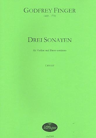 3 Sonaten: für Violine und Bc