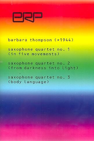 3 Quartette: für 4 Saxophone (SATBar) Partitur
