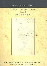 Das wohltemperierte Klavier Band 1 BWV846-BWV869