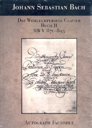 Bach, Johann Sebastian - Das wohltemperierte Klavier Band 2 BWV870-BWV893