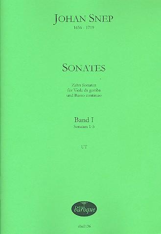 10 Sonaten opus.1 Band 1 (Nr.1-5): für Viola da gamba und Bc