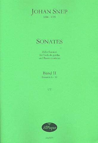 10 Sonaten opus.1 Band 2 (Nr.6-10): für Viola da gamba und Bc