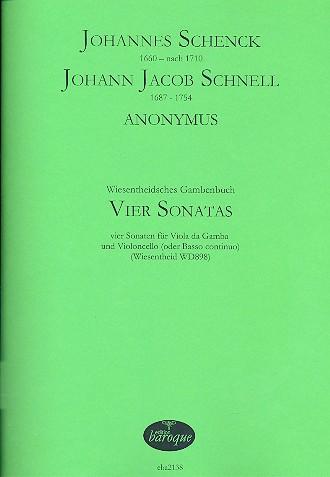 4 Sonatas: für Viola da Gamba und Violoncello (Bc)
