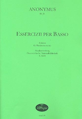 Essercizii per basso: für 1-2 Bassinstrumente