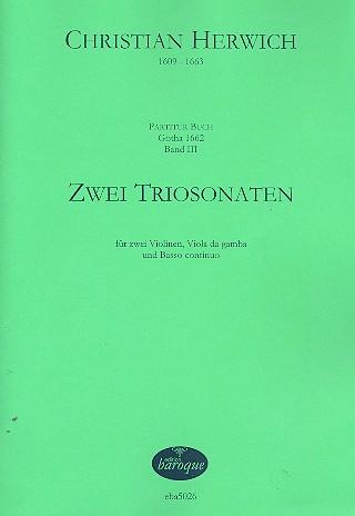 2 Triosonaten: für 2 Violinen, Viola da gamba und Bc