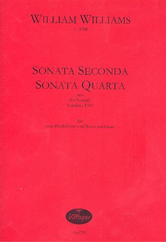 2 Sonaten: für 2 Blockflöten und Bc Partitur und Stimmen (Bc nicht ausgesetzt)