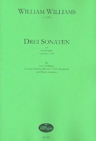 3 Sonaten (Nr.1,3 und 5): für 2 Violinen, Violone (Violoncello/Viola da gamba) und Bc