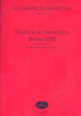 Sammartini, Giuseppe - Sämtliche Sonaten Band 8 : für Altblocklöte