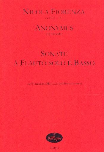 4 Sonate à flauto solo è basso: für Blockflöe und Bc