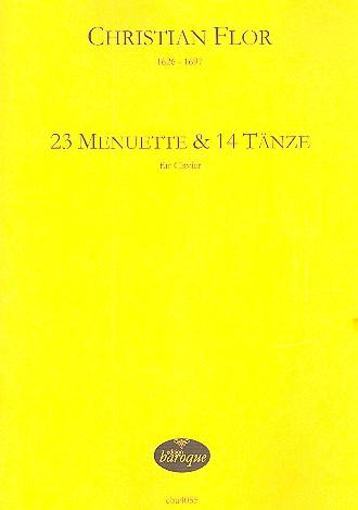 24 Menuette und 14 Tänze: für Klavier