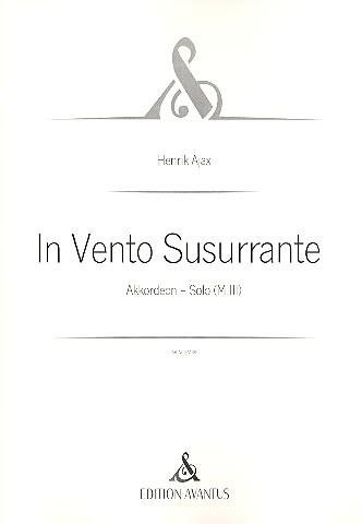 In Vento Susurrante: für Akkordeon