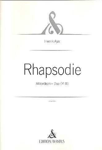 Rhapsodie: für 2 Akkordeons
