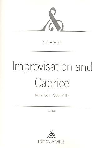 Improvisation und Caprice: für Akkordeon