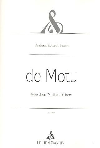 de Motu: für Akkordeon und Gitarre