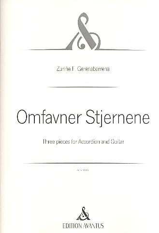 Omfavner Stjernene: für Akkordeon und Gitarre