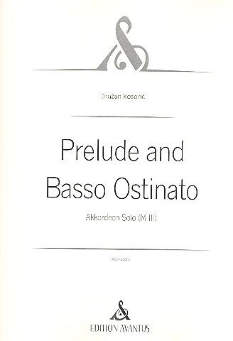 Prelude and Basso ostinato: für Akkordeon