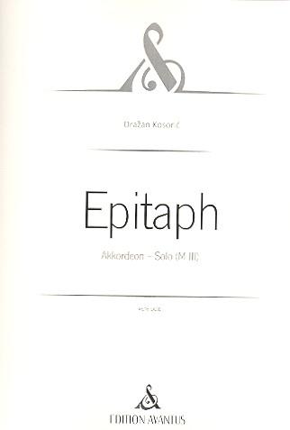 Epitaph: für Akkordeon