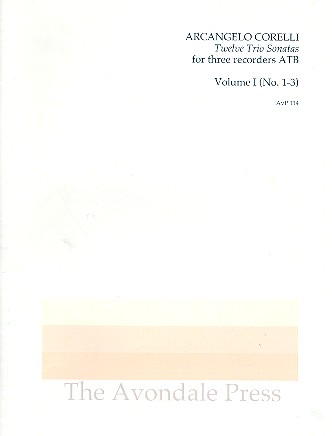 12 Trio Sonatas vol.1 (nos.1-3): for 3 recorders (ATB)