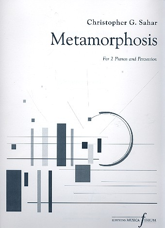 Metamorphosis: for 2 pianos and percussion (1 percussion player)