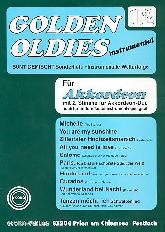 Golden Oldies Band 12: für Akkordeon solo oder Duo oder andere Tasteninstrumente